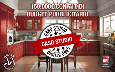 150.000€ con 71€ di budget pubblicitario? Ecco come ha fatto Again Marketing per LUBE STORE Chiavari (Caso studio REALE)